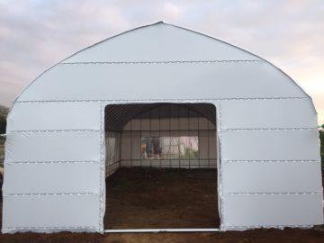 千葉県の施工実績|遮光パイプハウス(15坪)の画像