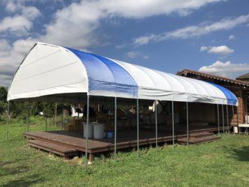 山梨県の施工実績|雨よけハウス(26.2坪)の画像