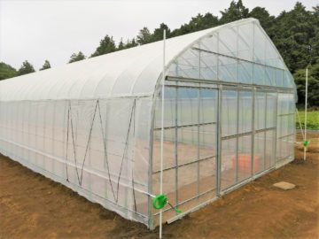 千葉県の施工実績|さつまいも育苗用ビニールハウス(97.2坪)の画像