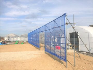 千葉県の施工実績|防風施設(H3m×W20m)の画像
